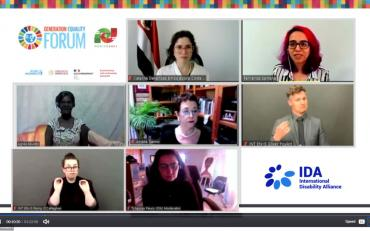 Screenshot of the Zoom meeting with all speakers.