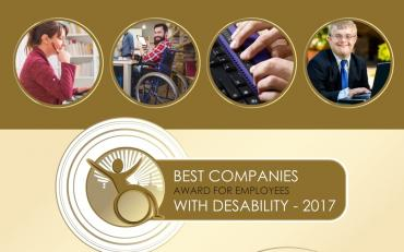 Best Companies Award for Employees with Disabilities - 2017 logo