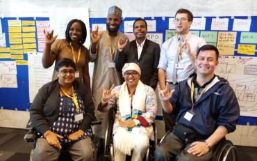 The IDA members' representatives and Bridge CRPD-SDGs Alumni at the 10th World Urban Forum