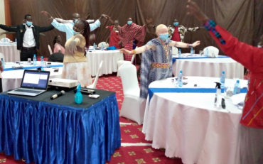 Participants during the technical workshop