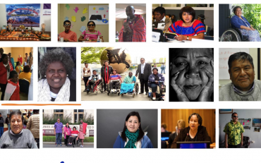 Collage of indigenous persons with disabilities