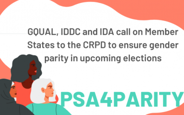GQUAL, IDA and IDDC call on member states to the CRPD to ensure gender parity in upcoming elections