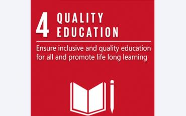 Logo of SDG 4 - Quality Education