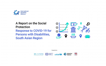 A Report on the Social Protection: Response to COVID-19 for Persons with Disabilitties, South Asian Region.