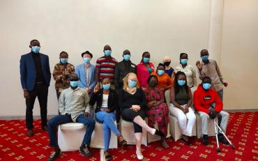 Youth with disabilities with masks