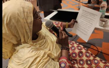 Woman Speaking at Bridge Niamey 2019