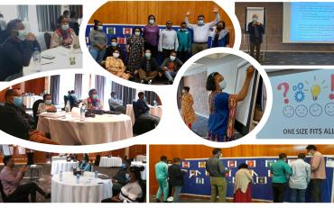 Collage of participants at the workshop