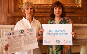 Diane Richler and Moreen Piggot for GQual Campaign