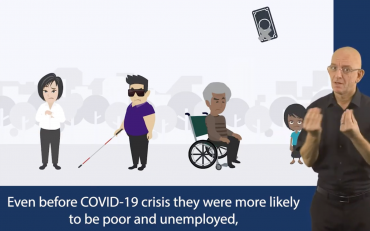 Screen-grab from the social protection video on COVID19