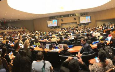 COSP11 room, fully packed