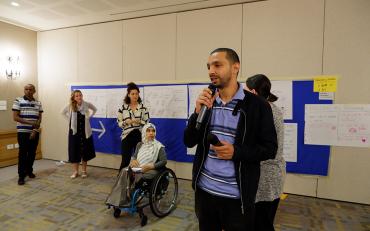 presentation of the UN CRPD by humanitarian actors