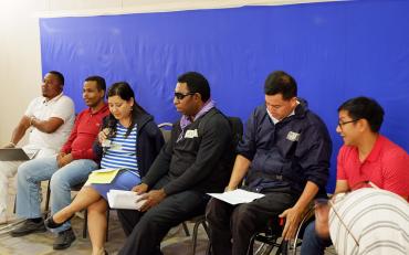 DPOs presenting on humanitarian framework