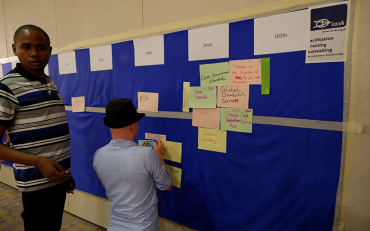 Participants sticking international mechanism to the timeline