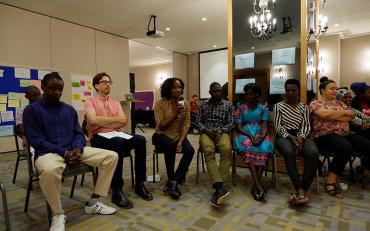 Elizabeth Ombati, Bridge CRPD-SDG fellow, facilitates review of previous day learning