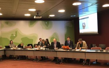Panel during the session in Geneva during the Humanitarian Networks and Partnerships Week (HNPW)