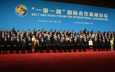 Group picture of Delegates and Officials at the Belt and Road Forum  for International Cooperation in May 2017