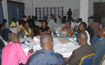 Participants at the BRIDGE CRPD SDG training in Uganda