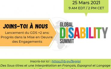 flyer of the GDS+2 years webinar - Français