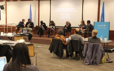 Room view of the technical workshop in New York on collecting data on persons with disabilities in humanitarian action