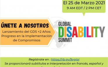 flyer of the GDS+2 years webinar Espanol