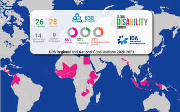 Map of the GDS showing the countries where IDA held consultations.