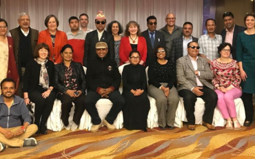 The IDA Inclusive Education task team members and their national member organisations from Nepal, during the 2nd Technical Workshop of the IDA Inclusive Education Flagship in Kathmandu, Nepal, March 2019.