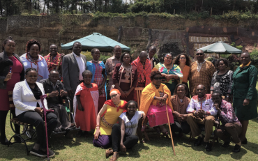 photo of participants at Bridge training on the rights of indigenous persons with disabilities