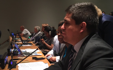 Jose Viera contributing to interactive dialogue at HLPF