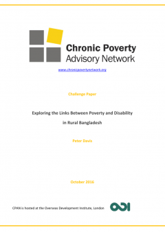 Front cover of the publication by Chronic Poverty Advisory Network