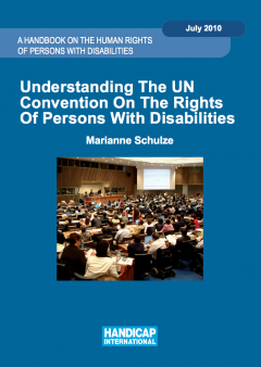 Coverpage of the 'Understanding the UN CRPD' Handbook