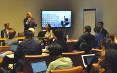 Colin Allen presenting in inclusive education HLPF side event