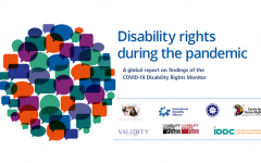 Cover of the COVID 19 Disability Rights Monitor report