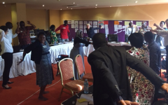 WFDB East Africa workshop participants doing stretching