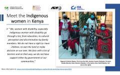Banner of indigenous women in Kenya