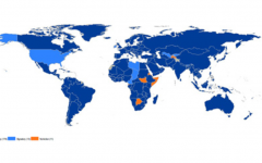 Map of the world, illustrating which countries have ratified the CRPD