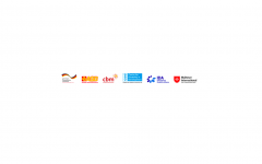 Logos of the Germany Federal Foreign Office (FFO), ASB, CBM, CDD, IDA, and MI